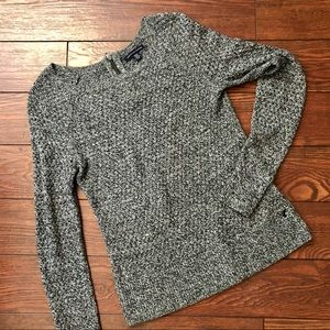 Quality textured marled sweater